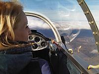 Let ve větroni nad Českým středohořím